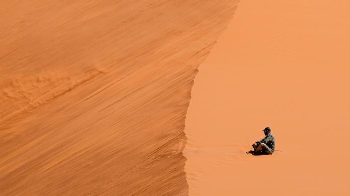 Listening to sand in the desert